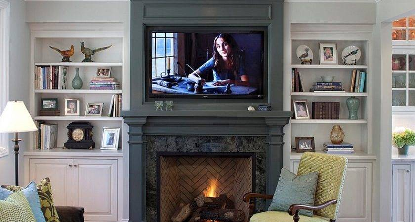 Above Fireplace Design Ideas