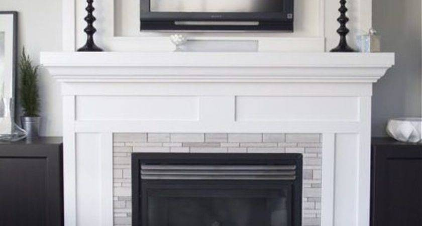 Above Fireplace White Design Home Decorating Trends