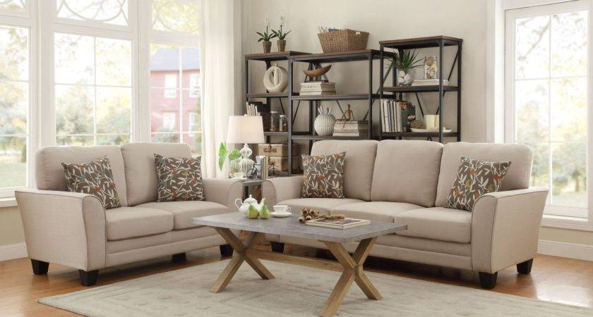 Adair Beige Living Room Set Homelegance