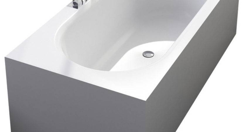 Adm Matte White Stand Alone Resin Bathtub Modern