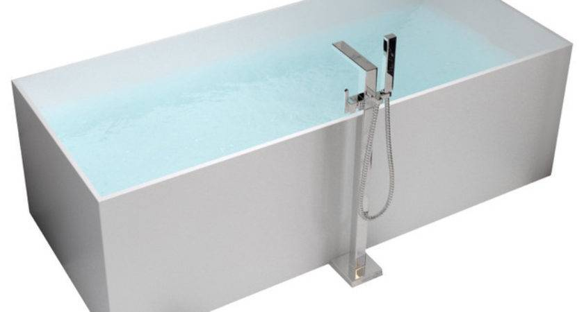 Adm Matte White Stand Alone Resin Bathtub