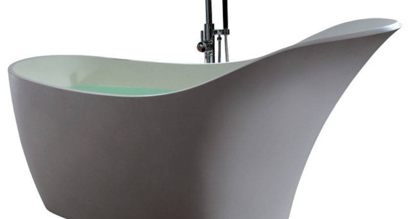Adm Solid Surface Stone Resin Stand Alone Bathtub Modern