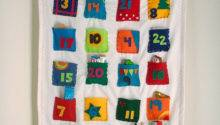 Advent Calendar Personalized Whimsical Colorful Boobahblue