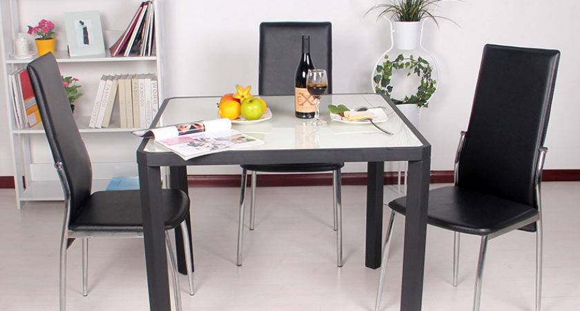 Aiweilisi Square Table Glass Dining Tables Chairs