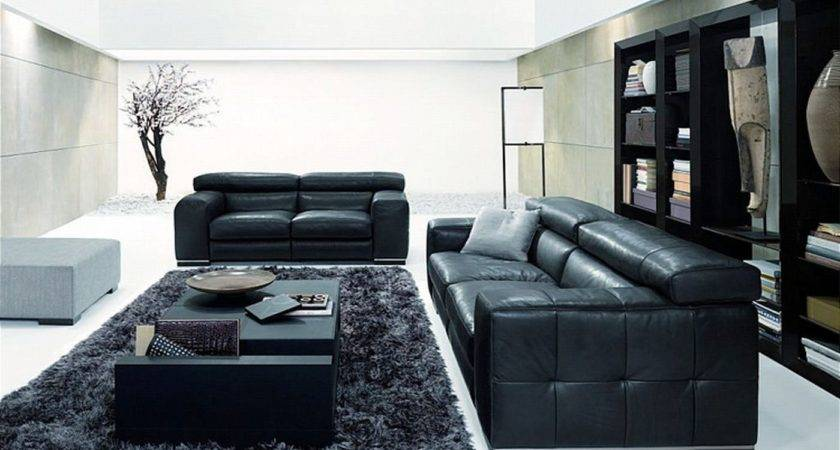 Amazing New Nicolas Living Room Design Black Sofa