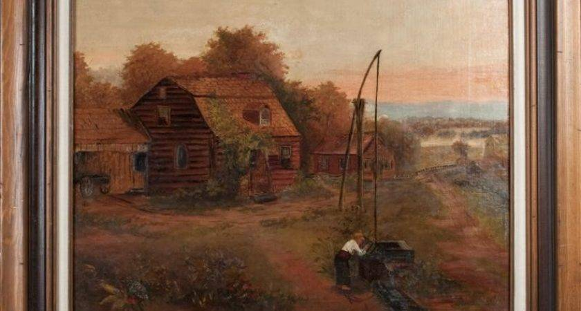 American Primitive Style Oil Painting Board