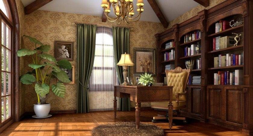 American Study Room Interior Design House