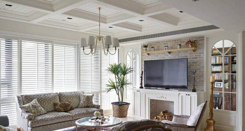 American Style Living Room Backdrop Design