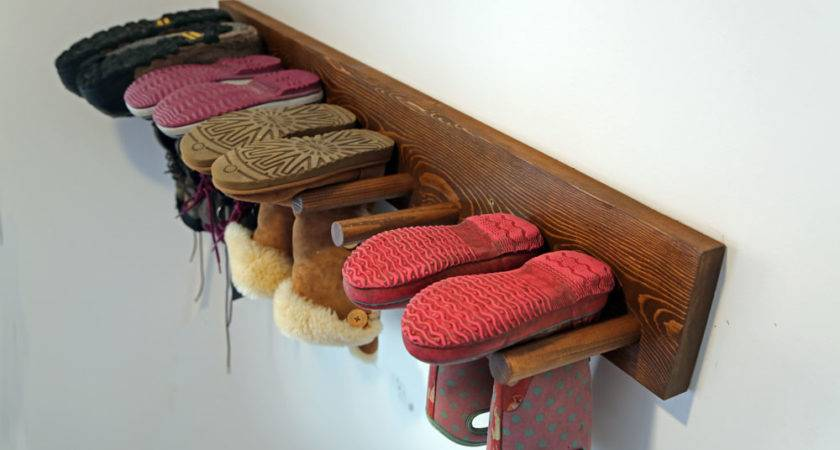 Ana White Wall Boot Rack Plans Diy Projects