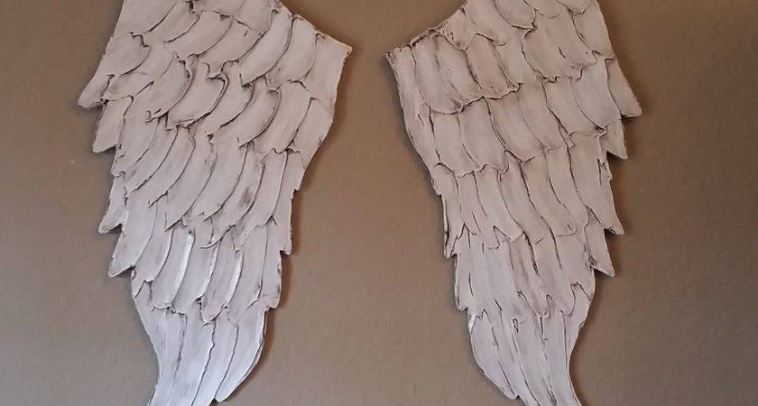 Angel Wing Wall Art Carved Wood Look Lucy Designs