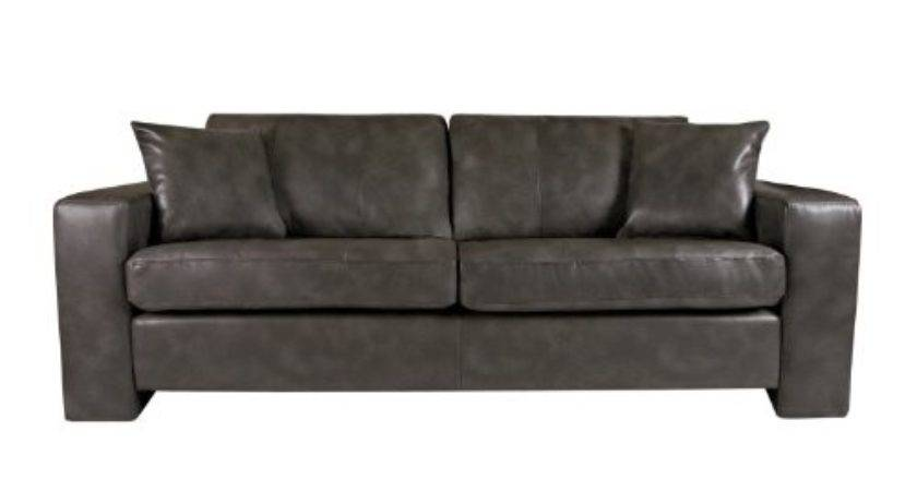 Angelo Sofa Charcoal Gray Leather Review Sofas