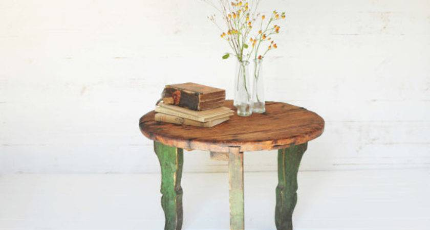 Antique Bohemian Coffee Table Round