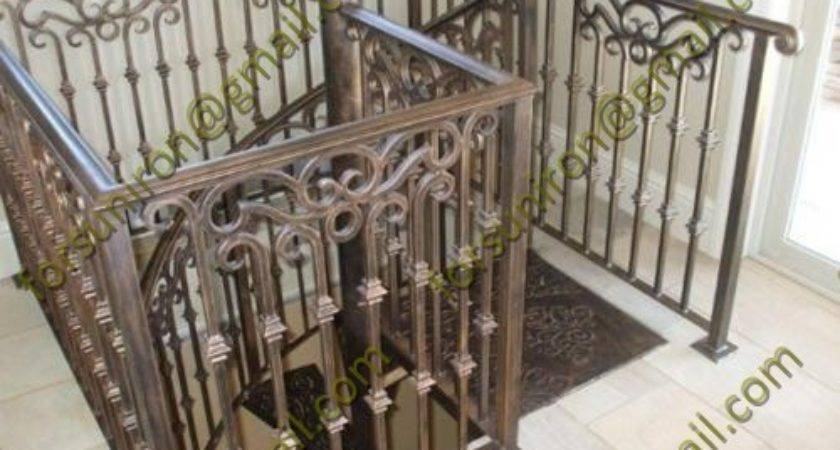 Antique Iron Stair Railings Wrought