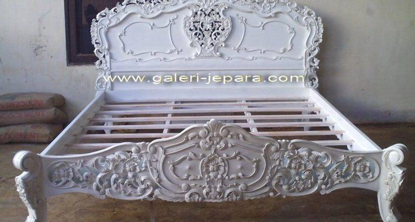 Antique Reproduction Rococo Bedroom White Furniture