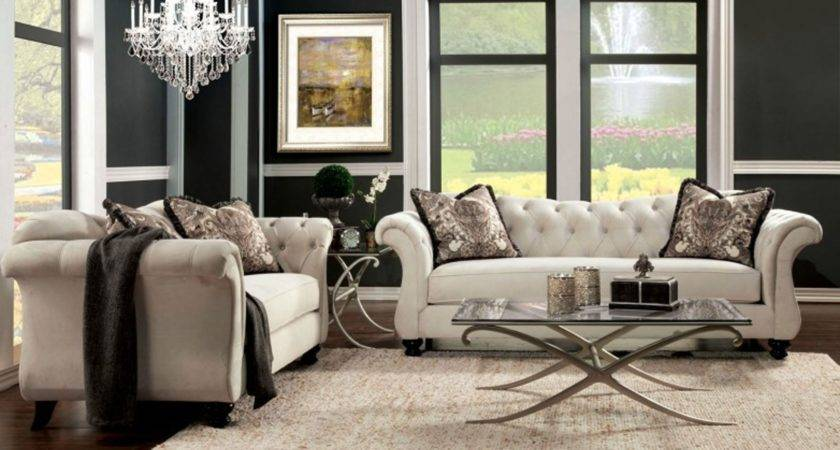 Antoinette Living Room Set Beige Sets