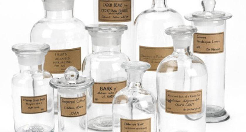 Apothecary Jars Antique Labels Shopkitchendesigns