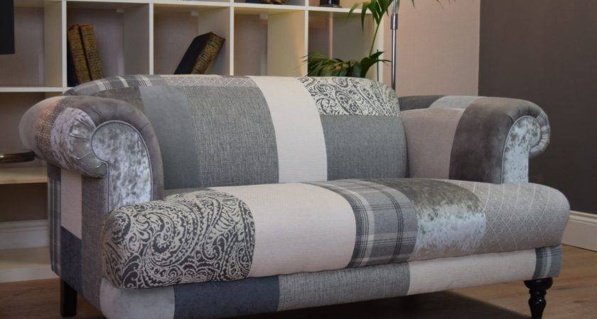 Aspen Seater Sofa Patchwork Natural Grey Silver Out