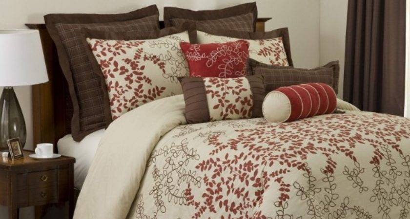Astor Red Beige Chocolate Abstract Branches Faux Silk