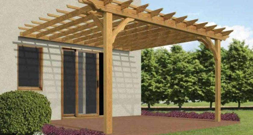 Attached Pergola Designs Roof