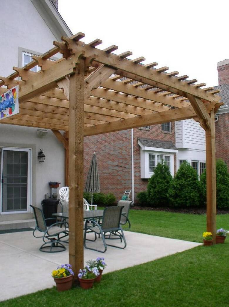 Attached Pergolas Expand Outdoor Living Space Pergola ... on Attached Outdoor Living Spaces id=63940