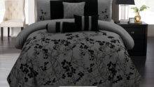 Autumn Vine Flower Floral Bloom Silhouette Comforter