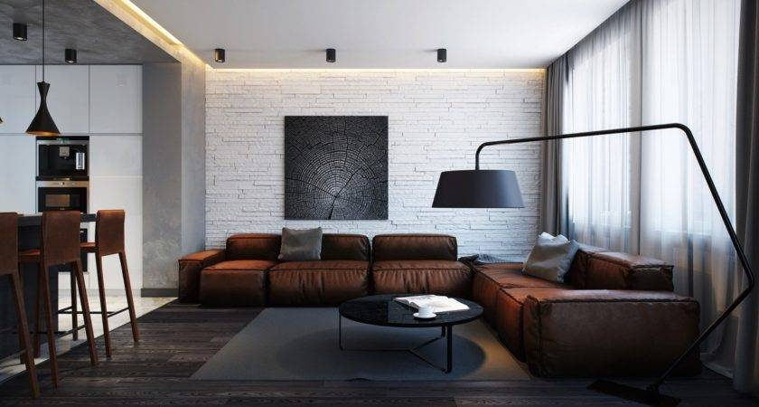 Awesome Leather Sofa Interior Design Ideas