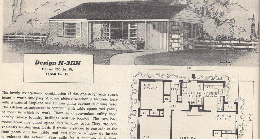 Awesome Retro House Plans Building
