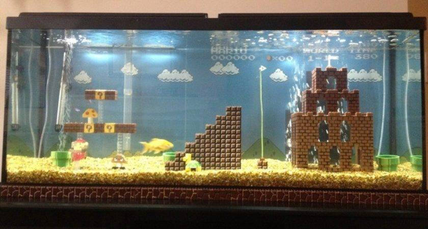 Awesome Super Mario Bros Inspired Fish Tank Modern Met