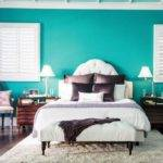 Awesome Teal Colored Home Walls Landscaping