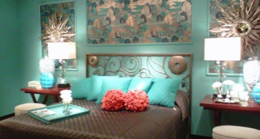 Awesome Teal Turquoise Brown Bedding Bedroom Decor