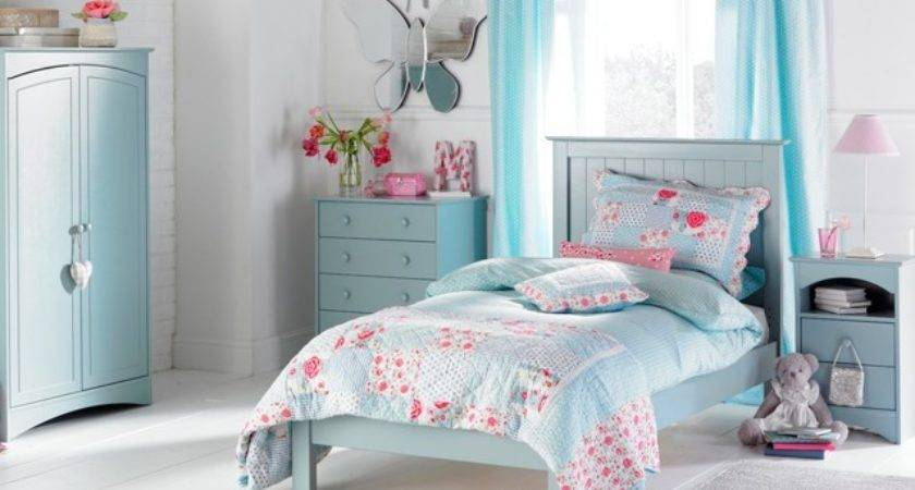 Baby Blue Pink Bedroom Rooms Girls Decorate House