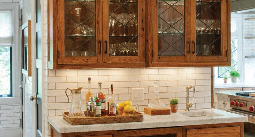 Bar Cabinet Ideas Kitchen Traditional Antiqued