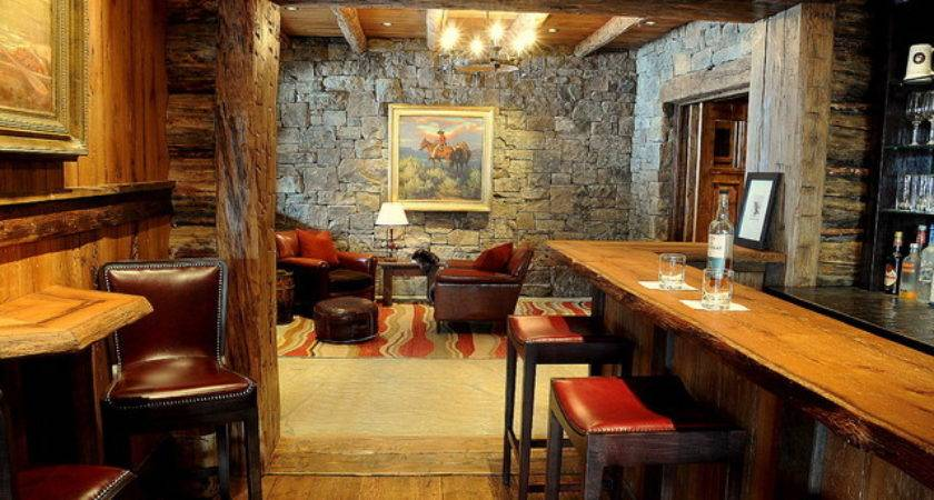 Bar Sitting Room Rustic Other Metro