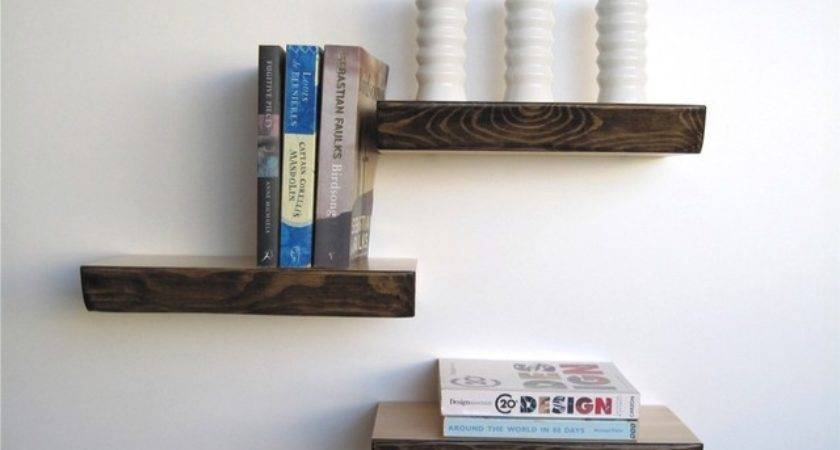 Bark Floating Shelf Modern Display Wall Shelves