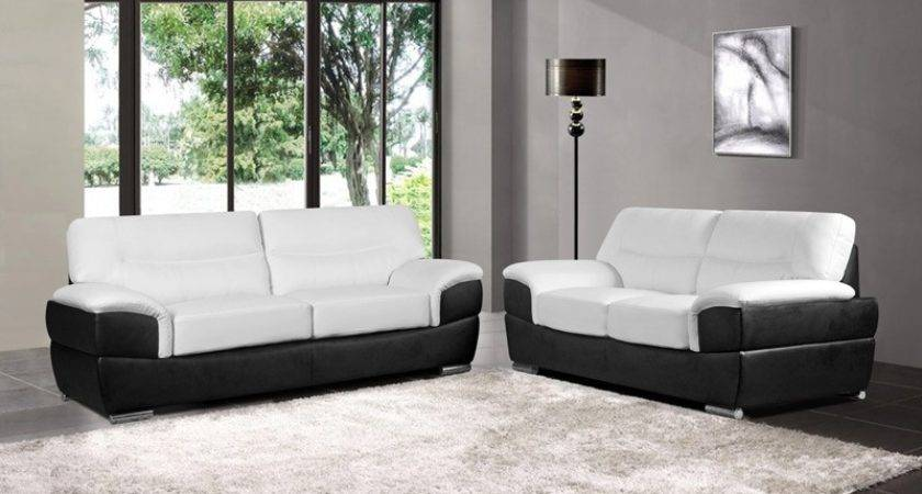 Barletta White Leather Sofa Collection Upholstered