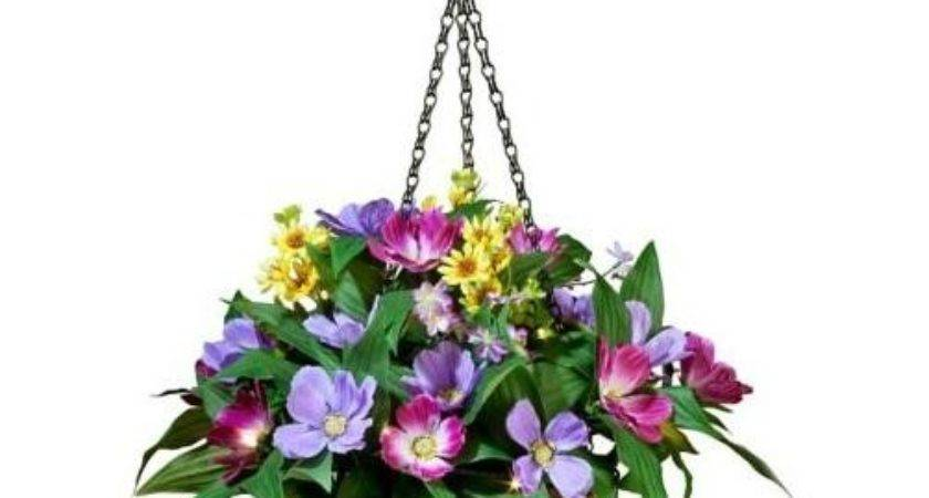 Battery Operated Outdoor Lighted Prelit Floral Hanging