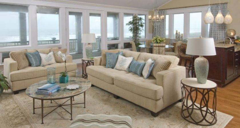 Beach House Living Room Traditional