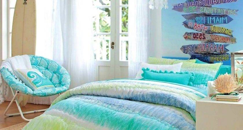 Beach Theme Bedroom Decorating Ideas Twin Gold Nightstand