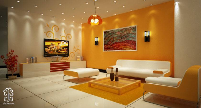Beautiful Accent Wall Colorful Art Living Room