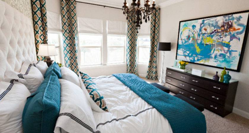 Beautiful Brown Teal Bedrooms Decoration House