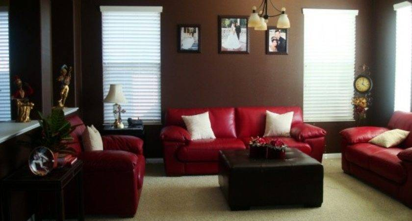 Beautiful Ideas Red Brown Living Decor