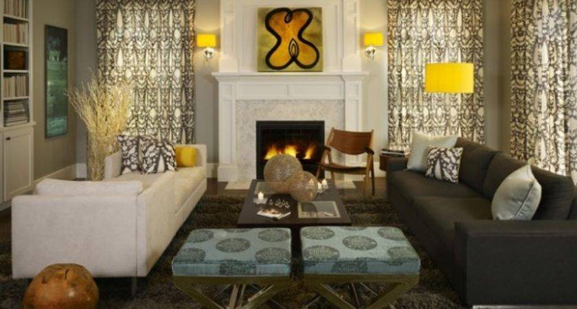 Beautiful Living Room Design Ideas Yellow Accent