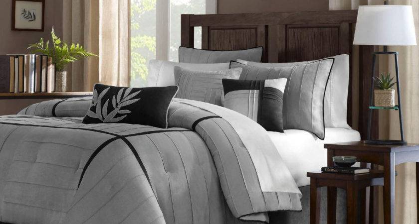 Beautiful Modern Elegant Grey Black Comforter