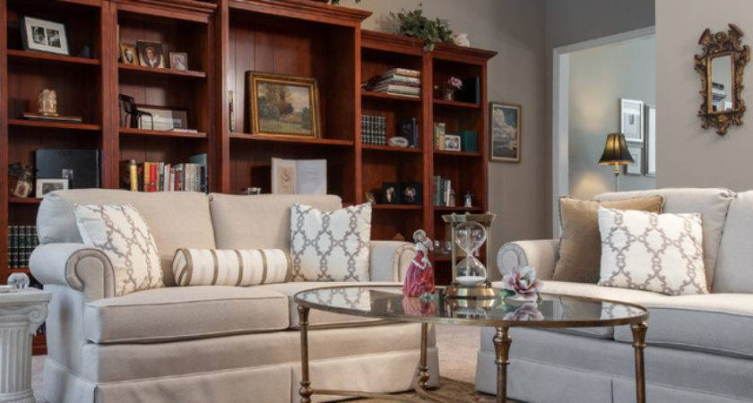 Beautiful Neutral Living Room Traditional