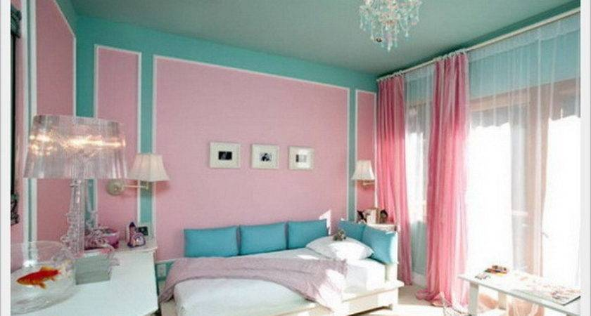 Beautiful Pink Blue Bedroom Decoration Ideas Home