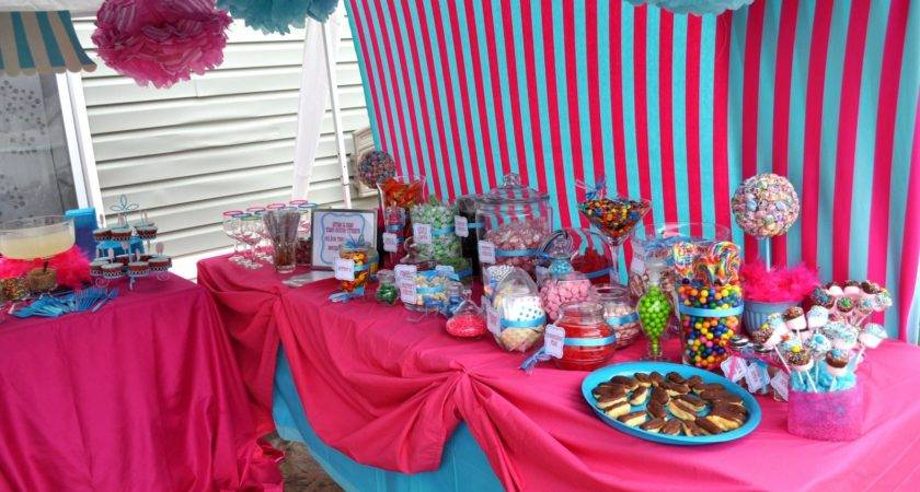 Beautiful Pink Blue Details Lovely Girl Party