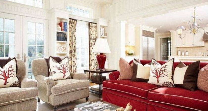 Beautiful Red Sofas Living Room Home Design Lover