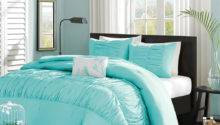 Beautiful Soft Teal Blue Aqua Pintuck Ruffled Ruched