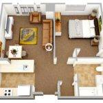 Bedroom Apartment House Plans Home Decorating Guru