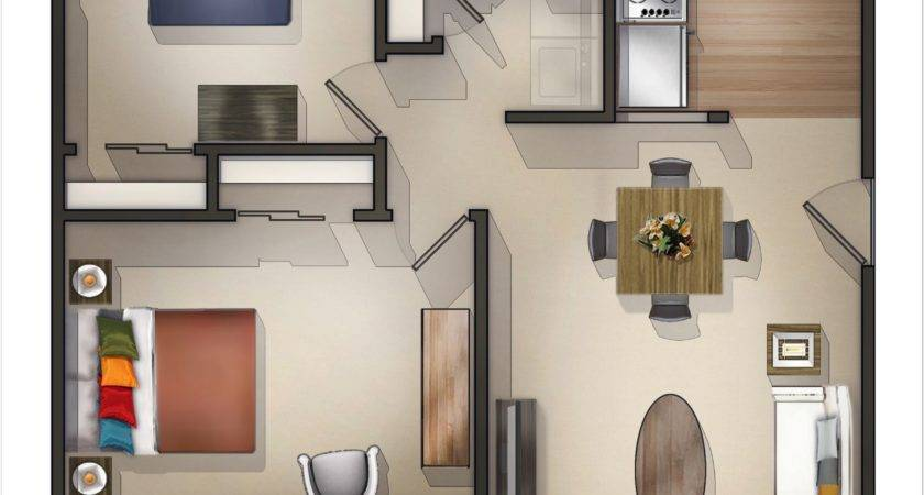 Bedroom Apartment Layout Ideas